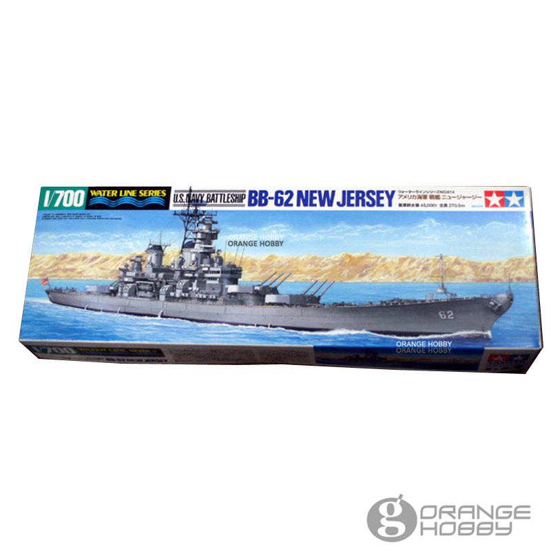 OHS Tamiya 31614 1/700 U.S. Navy BB62 New Jersey Water Line Ver. Assembly Scale Model Building Kits oh цена
