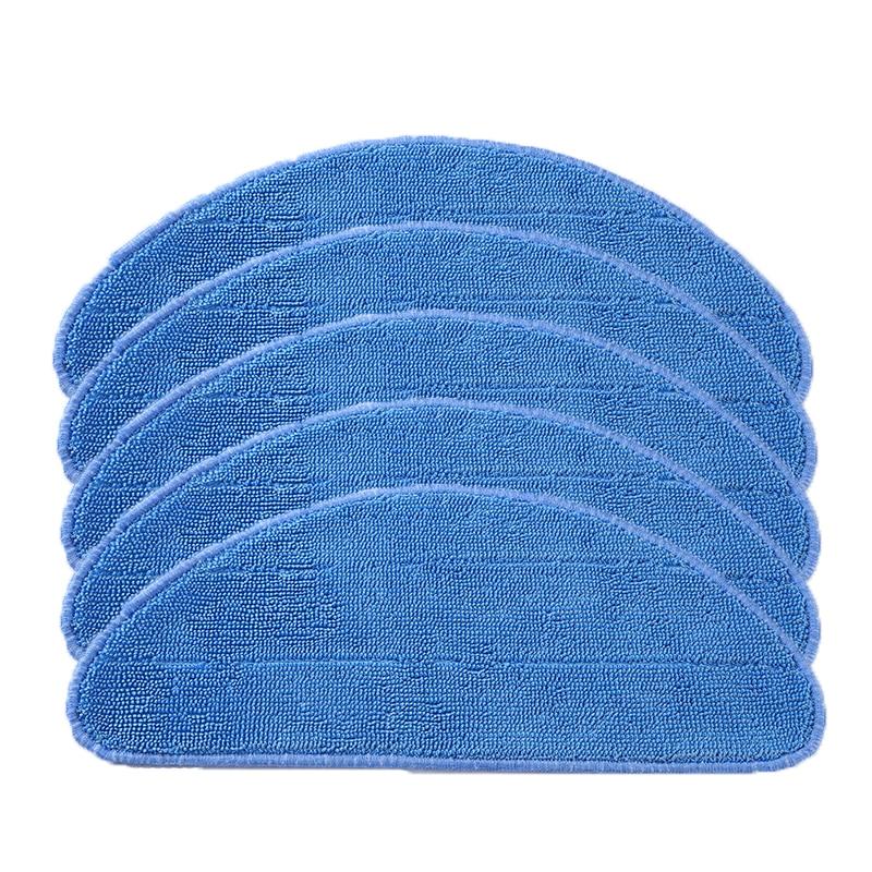 5 Pcs/lot Washable Mop Cloth For Ecovacs CR120 CR130 X600 Replacements For Ilife V5 X5 Panda X500 Hepa CEN540 CEN540-MI CEN546