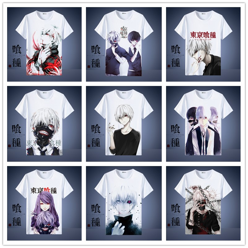 Anime Harajuku T-Shirt Tokyo Ghoul Clothing Unisex Adults Child Casual Fashion T Shirt Short Sleeve Tops Tshirt Cosplay.
