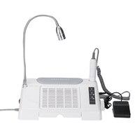 3in1 салон эксперт ногтей машина Workbench 35000 об./мин./дрель с 7 Вт светодио дный LED Настольная лампа пылесборник очиститель
