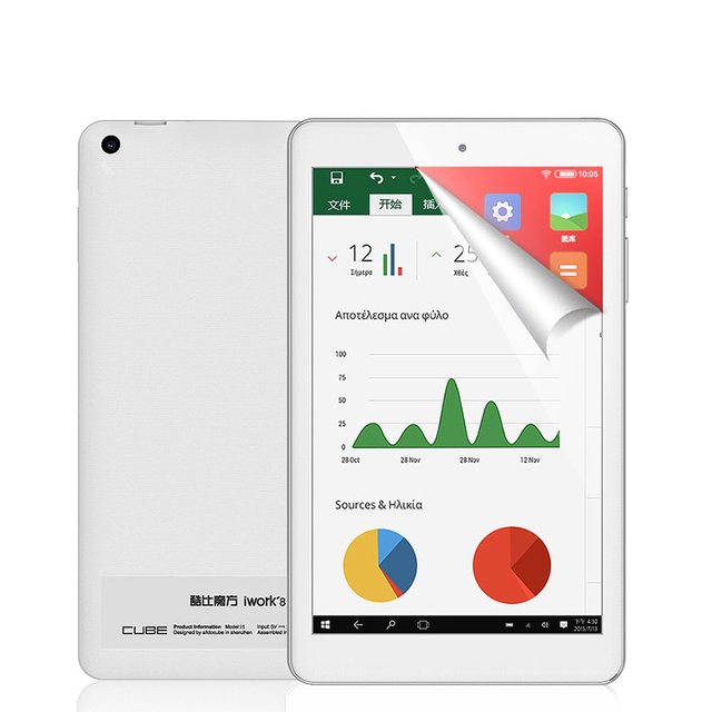 Cube iWork8 Air Pro Tablet PC intel X5-Z8350 Quad-Core 2GB Ram 32GB Rom 8 inch 1920*1200 IPS Win 10+Android 5.1 WiFi HDMI BT