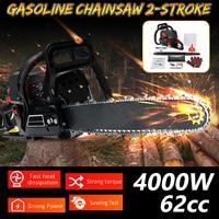 Professional Chainsaw 20 inch 4000W Bar Gas Gasoline Powered Chainsaw 62cc Engine Cycle Chain Saw