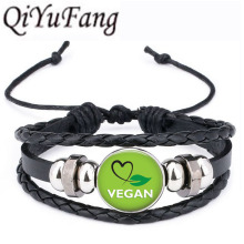 Green VEGAN heart jewelry