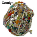 Comiya multi color bead women wide bangles bracelet armbanden voor vrouwen pulseras hombre joyas de plata wholesale cute bangle