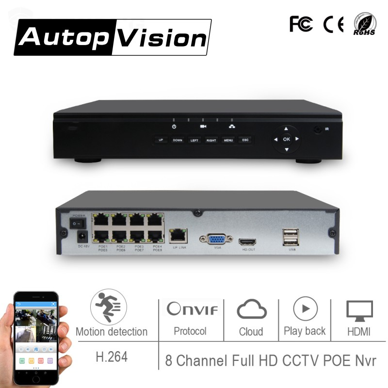 LS-7508POE 8 Channel 1080p Full HD CCTV POE NVR h.264 onvif p2p 8CH POE NVR Network Video Recorder support motion detection new hot sell dahua 8ch nvr h 264 1080p network video recorder nvr4108 8p smart 1u support english firmware and onvif