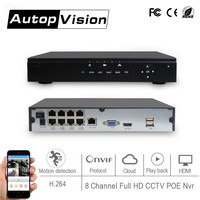 LS 7508POE POE Support Onvif 8CH 1080P NVR H 264 No Need Power Supply And