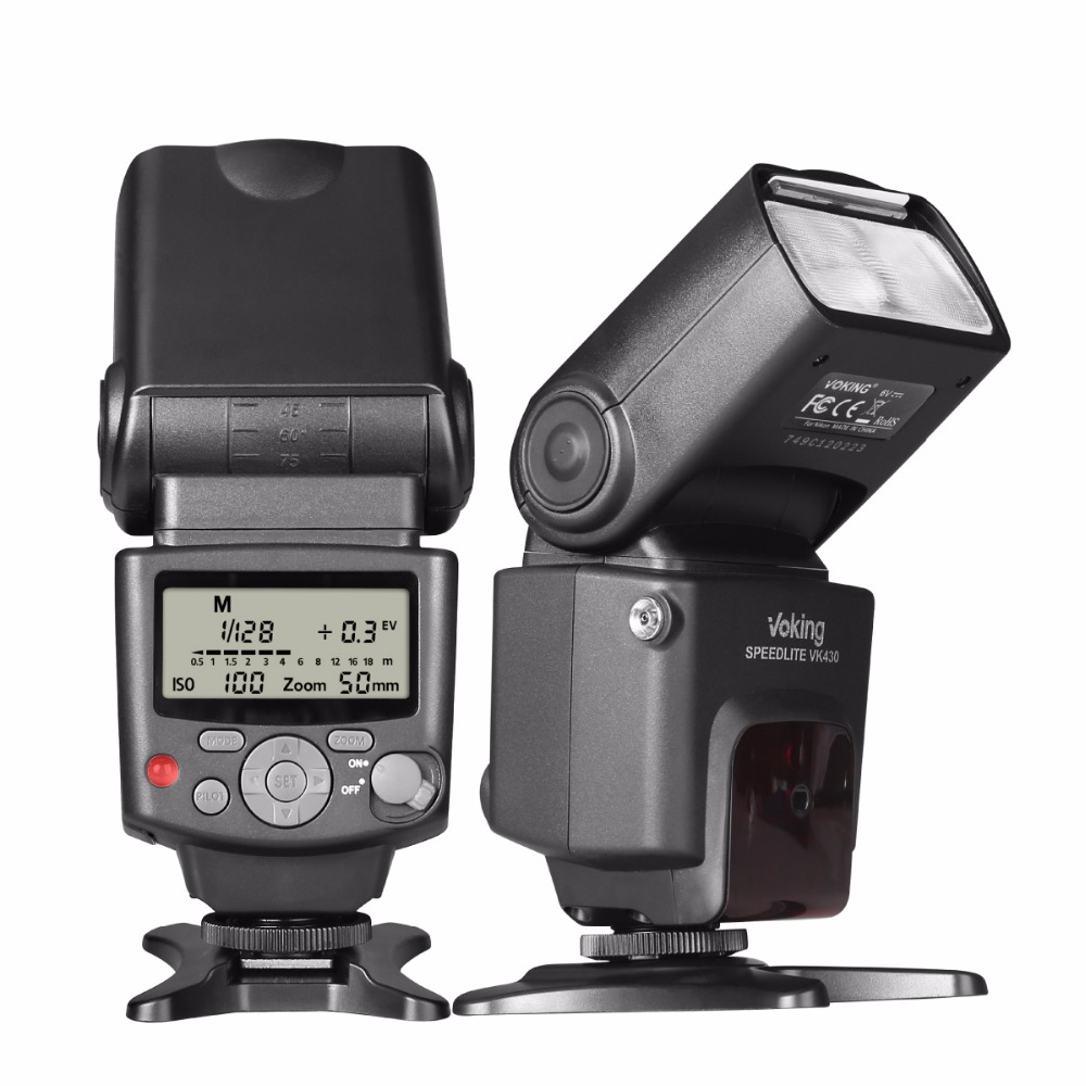 Image 2 - Voking VK430 I TTL LCD Display Blitz Speedlight Flash for Nikon D5500 D5300 D3300 D7200 D3400 D5300 D500 D7500 D750 D5600-in Flashes from Consumer Electronics