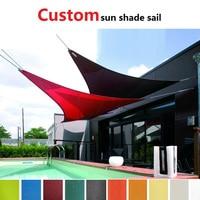Waterproof Sun shade sail triangle garden awning shade canopy net toldo canopy outdoor pergola gazebo garden awning voile soleil