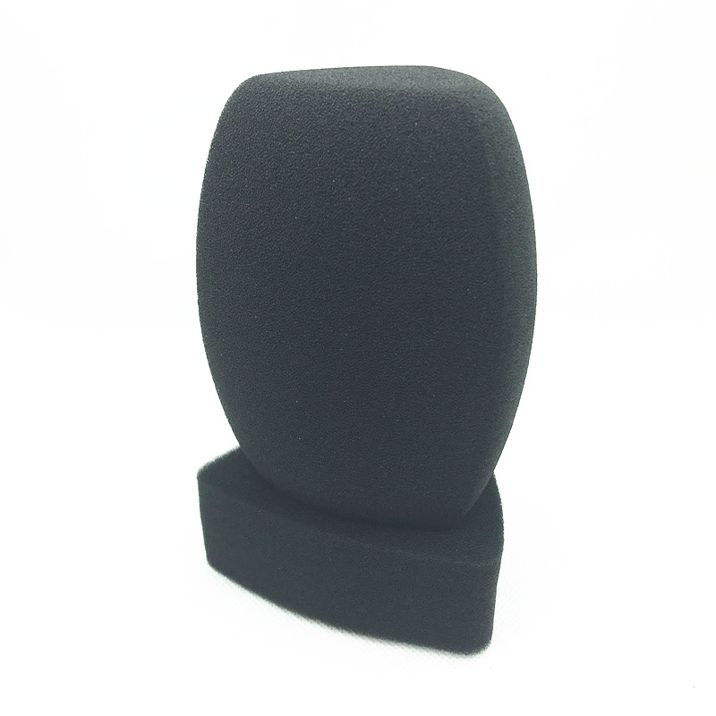 Linhuipd Reporter-Style Interview Mic Foam Windscreen Handheld Windshield For TV Station Broadcasting Video Mic Journalist