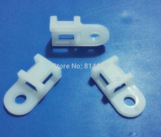 HC 0 White Saddle Type Tie Mount For 5.2mm Plastic Cable Tie-in Tie ...