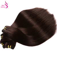 Real Beauty Color 2 Remy Straight Brazilian Hair Weft 100 Human Hair Weaves Bundle Free Shipping