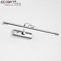 Ecobrt現代ステンレス鋼ledバニティフロントミラーライト浴室化粧壁掛け燭台照明器