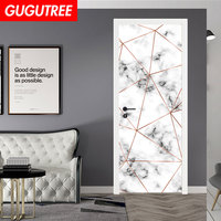 Decorate Home 3D marble line wall door sticker decoration Decals mural painting Removable Decor Wallpaper LF 754