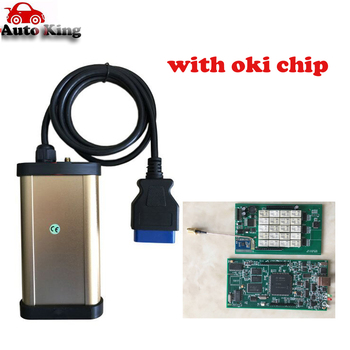 OKI CHIP include !  Latest gold VD TCS CDP pro plus With Bluetooth + keygen for cars and trucks obd2 obd diagnostic