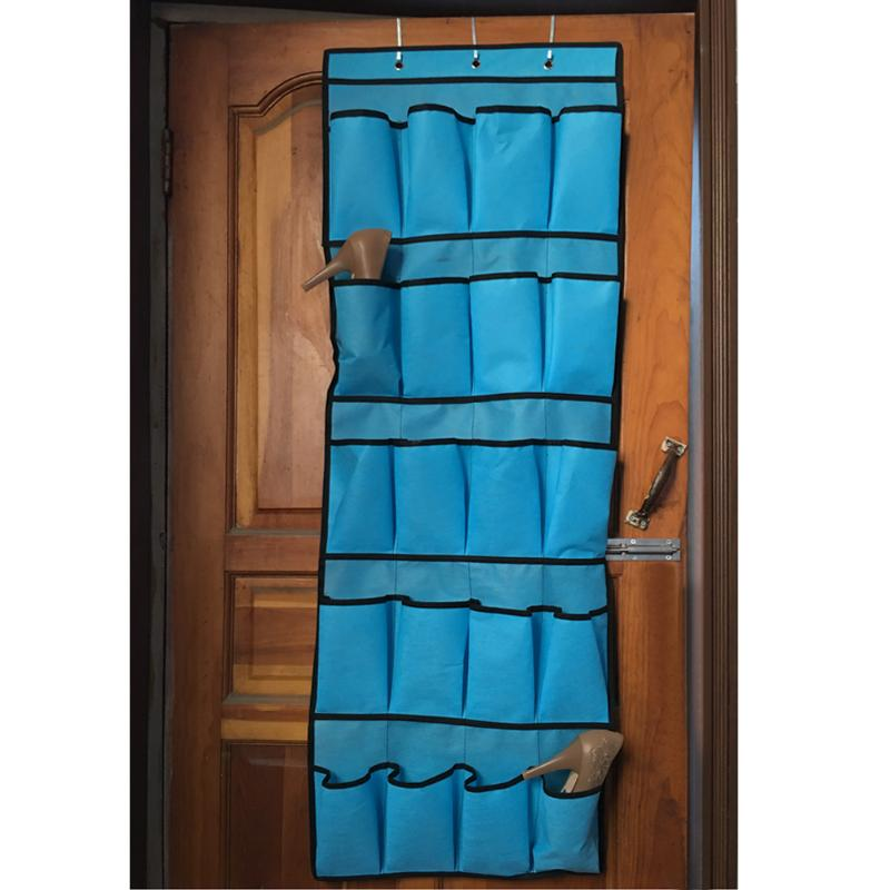 20 Pocket Hanging Shoe Organizers Made with Non Woven Material for Shoe Storage behind the Door 3