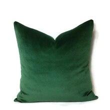 ESSIE CASA de Lujo Verde Musgo Verde Esmeralda de Terciopelo Verde Bosque Funda de Almohada Fundas de Colchón Funda de Almohada Madera Hunter Verde de Terciopelo