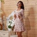 Corta de manga larga camisón de flores para mujer dormir país estilo Vintage camisones