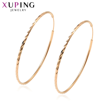 11.11 Deals Xuping Fashion Jewelry Hyperbole Style Rose Gold Color Plated Hoops Earrings for Women Thanksgiving Gift S49.2-97349 earrings