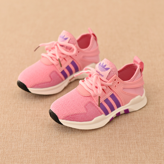 2016 Children Sport Shoes Spring Autumn Air Mesh Breathable Running Shoes Boys Girls 3 Style Wearability Comfort Kids Sneakers