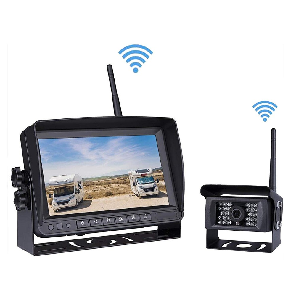 """7/"""" Monitor+Built-in Wireless Rear View Camera System Kit For RV Truck Motorhome"""