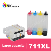 INKARENA 711 T120 T520 Ciss System Continuous Ink Tank For HP 711 Bulk Ink System With Chip For HP Designjet T120 T520 Printer