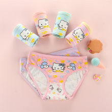 fde1618a044b 4Pcs/ Lot kids Underwear Cotton Panties 2018 New Clothing Cute Cat Cartoon  Printed Girls Baby