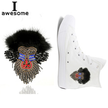 Animal design Baboon Bridal Wedding Party Shoes Accessories For high Heels Sandals Boots Manual Rhinestone Decorations