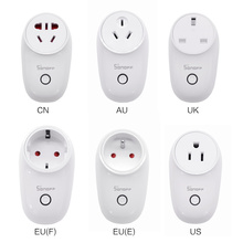 SONOFF S26 WiFi Smart Socket EU (E/F) US/UK/AU/CN Light Switch Outlet Timer Wireless Remote Work With Alexa Google Home IFTTT
