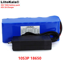LiitoKala 36V 10Ah 10S3P 18650 Rechargeable battery pack ,modified Bicycles,Electric vehicle  li-lon batteries +2A Charger 36v 10ah 10s3p 18650 rechargeable battery pack 500w modified bicycles electric vehicle 42v li lon batteries 2a battery charger