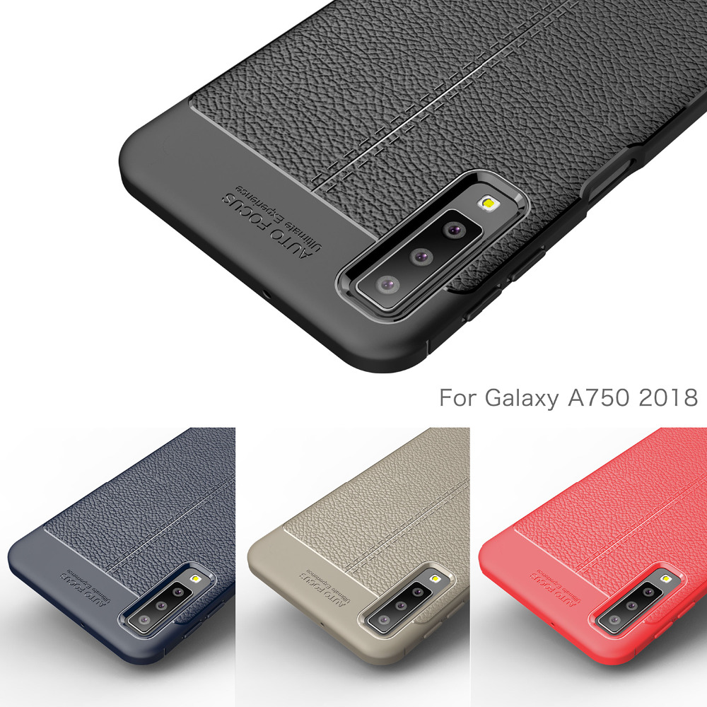 Étui pour Samsung Galaxy A7 2018 A750 Silicone En Fiber De Carbone Couverture Arrière Molle Pour Samsung A7 2018 A750F Cas Téléphone Funda Coque etui