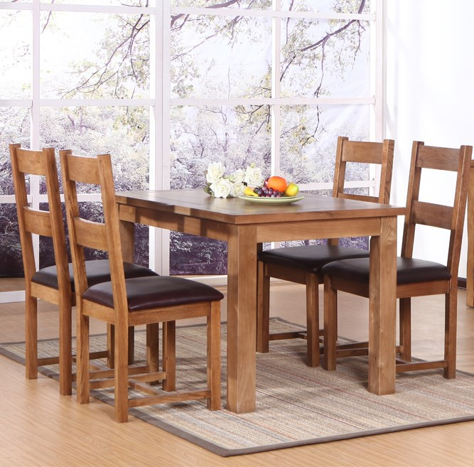 Estilo europeo de madera mesas minimalista moderno comedor for Comedor minimalista