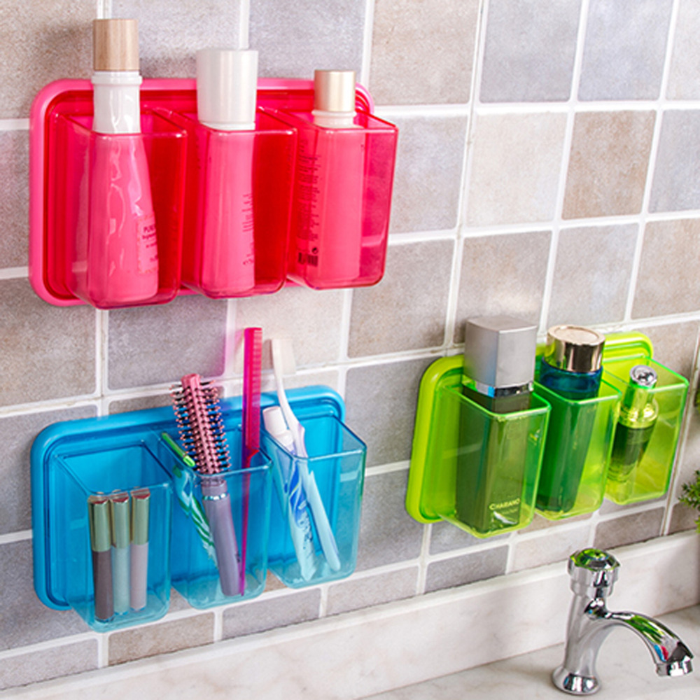 plastic bathroom shelves self adhesive wall storage rack multi functional kitchen shelvingchina - Multi Bathroom 2016