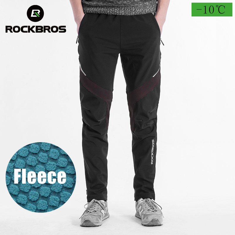 ROCKBROS Winter Riding Pants Cycling Windproof Thermal Casual Sweatpants Trousers Stretchy Outdoor Hiking Running Sport Pants