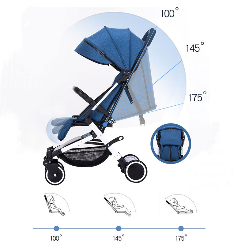 Baby yoya stroller mini lightweight cart Portable Folding Baby carriage can sit can lie Baby trolley 2 in 1 High landscape in Lightweight Stroller from Mother Kids