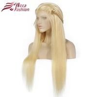 Rüya Güzellik Tam Sarışın 613 # Renk Brezilyalı Remy İnsan Saç Tam dantel Peruk Yoğunluk % 130% Ile Düz Saç Dantel Peruk Bebek Saç