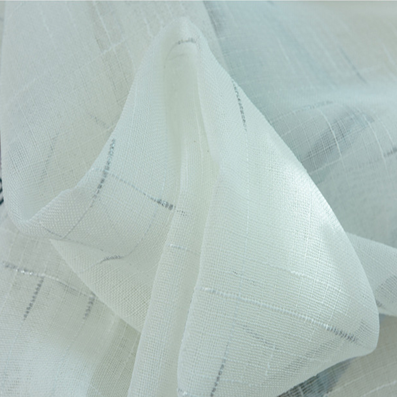 Custom-made White Linen Voile Window Curtains For Living Room Kitchen Sheer Screen Fabric Modern Tulle For Bedroom Home Textile