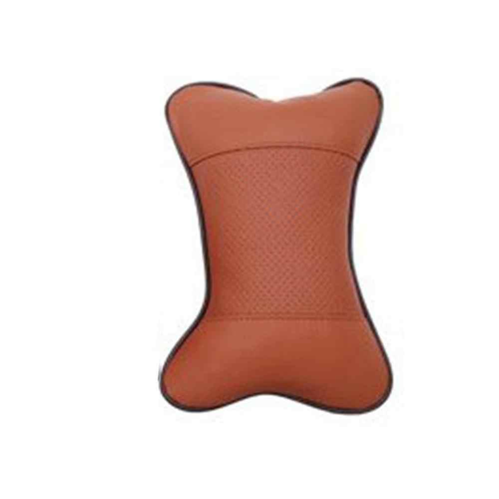 Appui-tête réglable coussin coussin siège de voiture cou oreiller voiture appui-tête oreiller Pu cuir tête cou reste oreiller