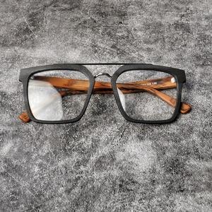 Image 1 - Instagram ผู้หญิง Hot VINTAGE กรอบแว่นตาผู้ชายใหม่สแควร์ Acetate แว่นตาขนาดใหญ่แว่นตาสายตาสั้น Blue Light แว่นตาล้างเลนส์