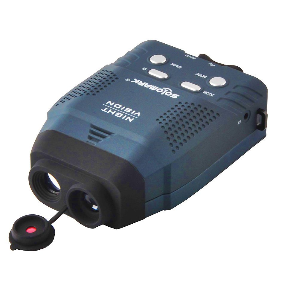 Solomark Night Vision Monocular, Blue-infrared Illuminator Allows Viewing in the Dark-records Images and Video