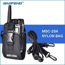 Walkie Talkie Case Black Nylon Bag Portable Walkie Talkie Accessories for BAOFENG UV-5R 888S UV-3R Plus ZT-X6 WLN KD-C1 Talkie