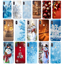 77SD Happy New Year to the Christmas tree Soft Silicone Tpu Cover phone Case