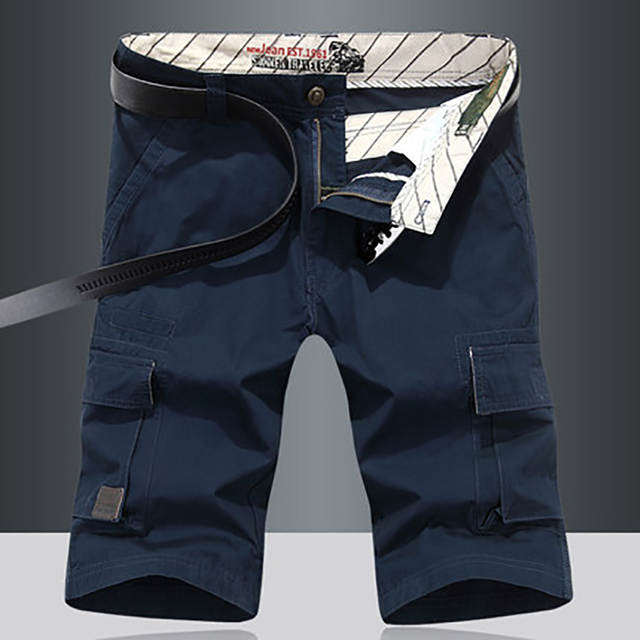 780e75652b8 Slim Red Shorts Men Casual 3/4 Tight Mens Chino Cargo Shorts Khaki Calzones  Jeans Bermuda Short De Mma Masculino Academia 40XD47