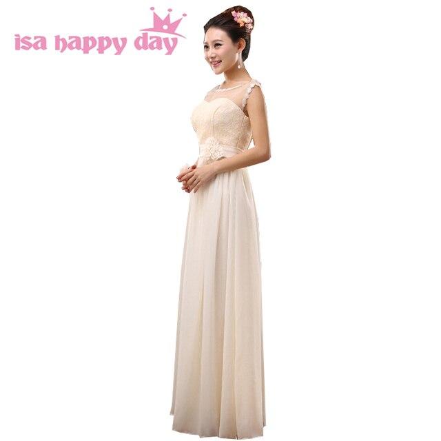 mix different style korean long dress for bridesmaid sweetheart chiffon  maid bride champagne brides maid dresses chiffon H2695 970e0832f24c
