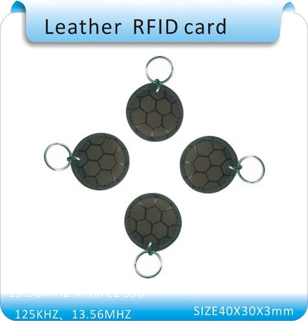Free shipping 100pcs world cup Access Control system keyfob leather 125 KHz ID card  Smart Card/RFID key Card   leather