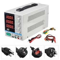 Nueva PS-3010DF Pantalla de 4 dígitos 30V 10A fuente de alimentación CC de laboratorio ajustable Reparación de carga USB fuente de alimentación regulada