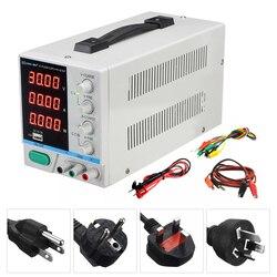 Nueva PS-3010DF Pantalla de 4 dígitos 30V 10A laboratorio DC fuente de alimentación ajustable Reparación de carga USB conmutación regulada fuente de alimentación