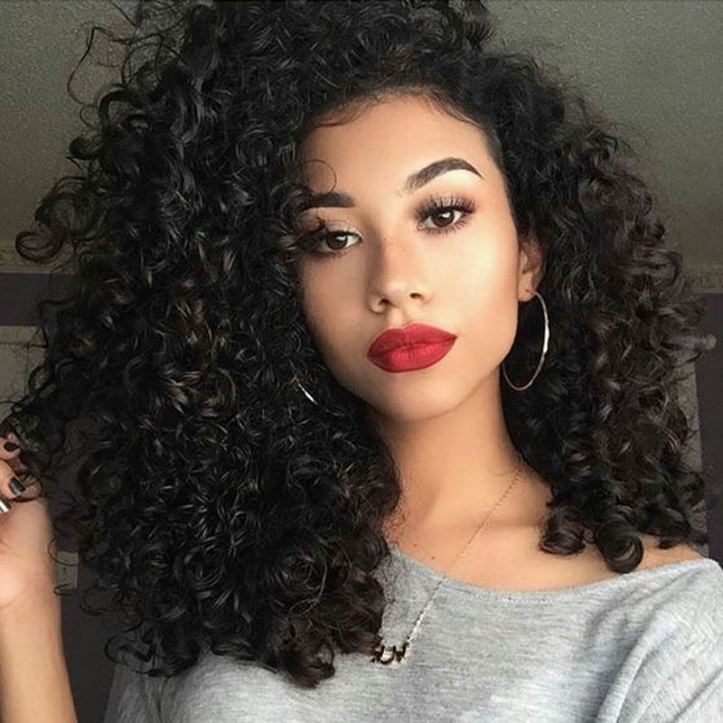 ФОТО Heat Resistant Synthetic Lace Front Wigs Cheap Charming Kinky Curly Synthetic Hair Curly Synthetic Wig for Black Women