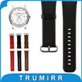 22mm 24mm Genuine Leather Watch Band for Hamilton Watchband Stainless Steel Buckle Strap Replacement Wrist Belt Bracelet 3 Color