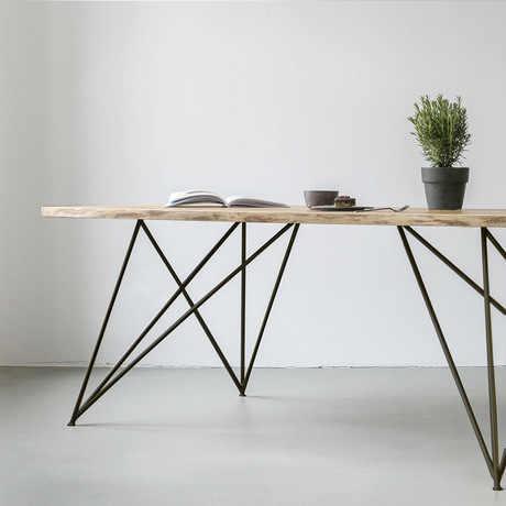 Конференц-стол офисная мебель коммерческая мебель из массива дерева + стали современные офисные столы офисный стол минималистский 180*80*75 см