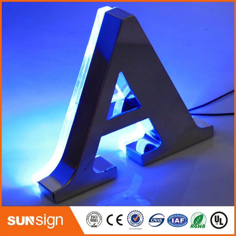Home Decoration Stainless Steel Backlit Led Channel Letter